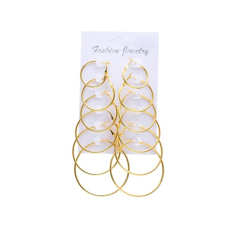 gran descuento d2a69 85759 Zarcillos de aros para mujeres Pendientes femeninos argollas de oro o plata