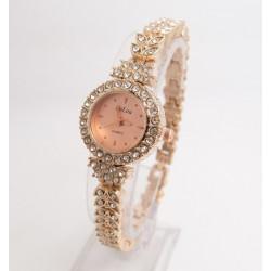 Reloj tipo pulsera dorado...