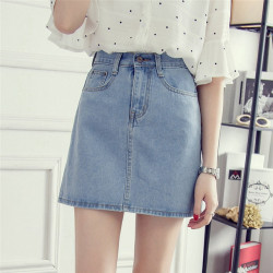 Mini Falda Vintage Denim...
