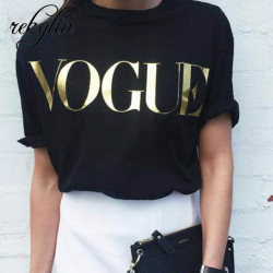 Camiseta Negra Vogue en...